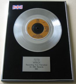 TOTO - AFRICA PLATINUM single presentation Disc